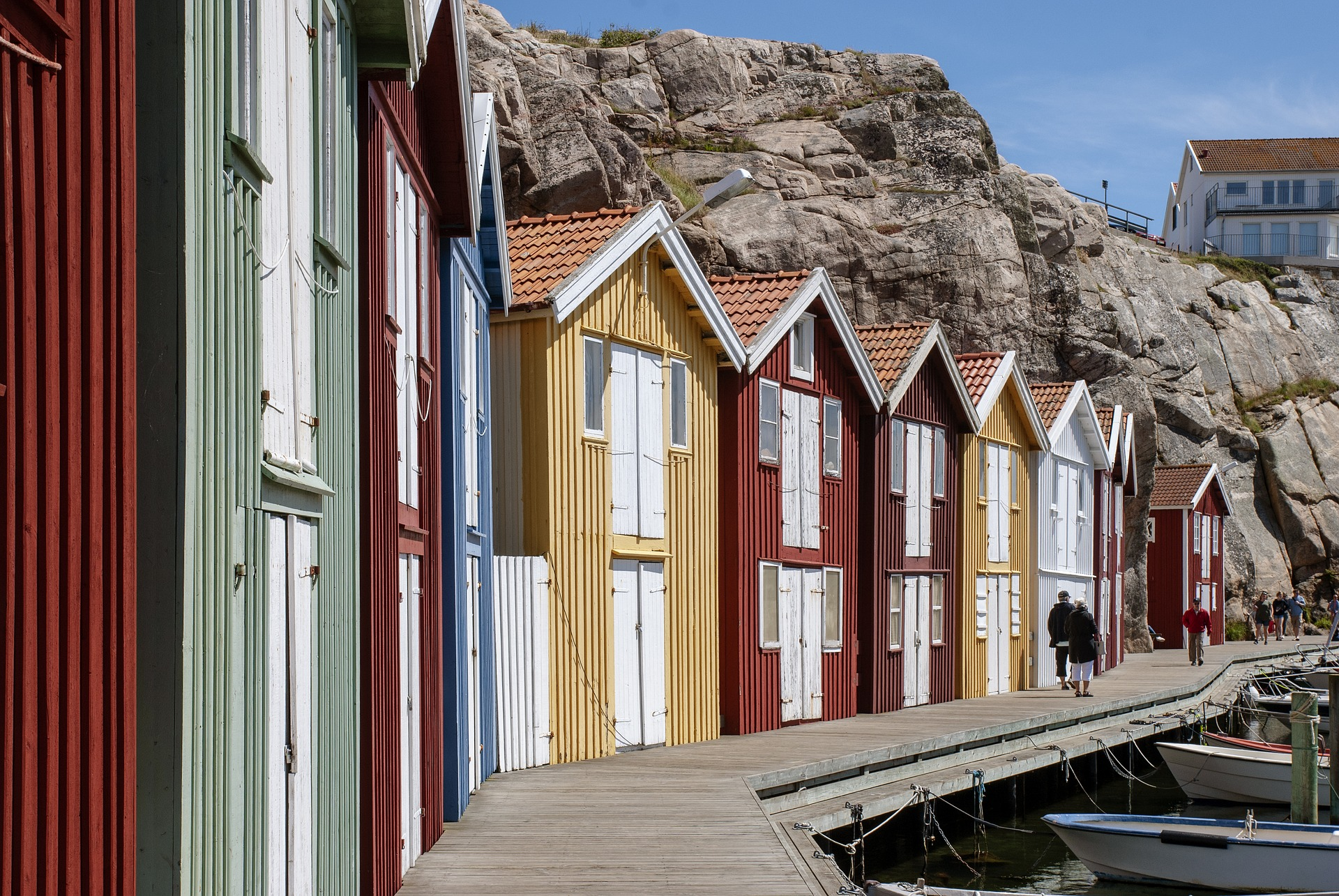 A Row of Home in Sweden