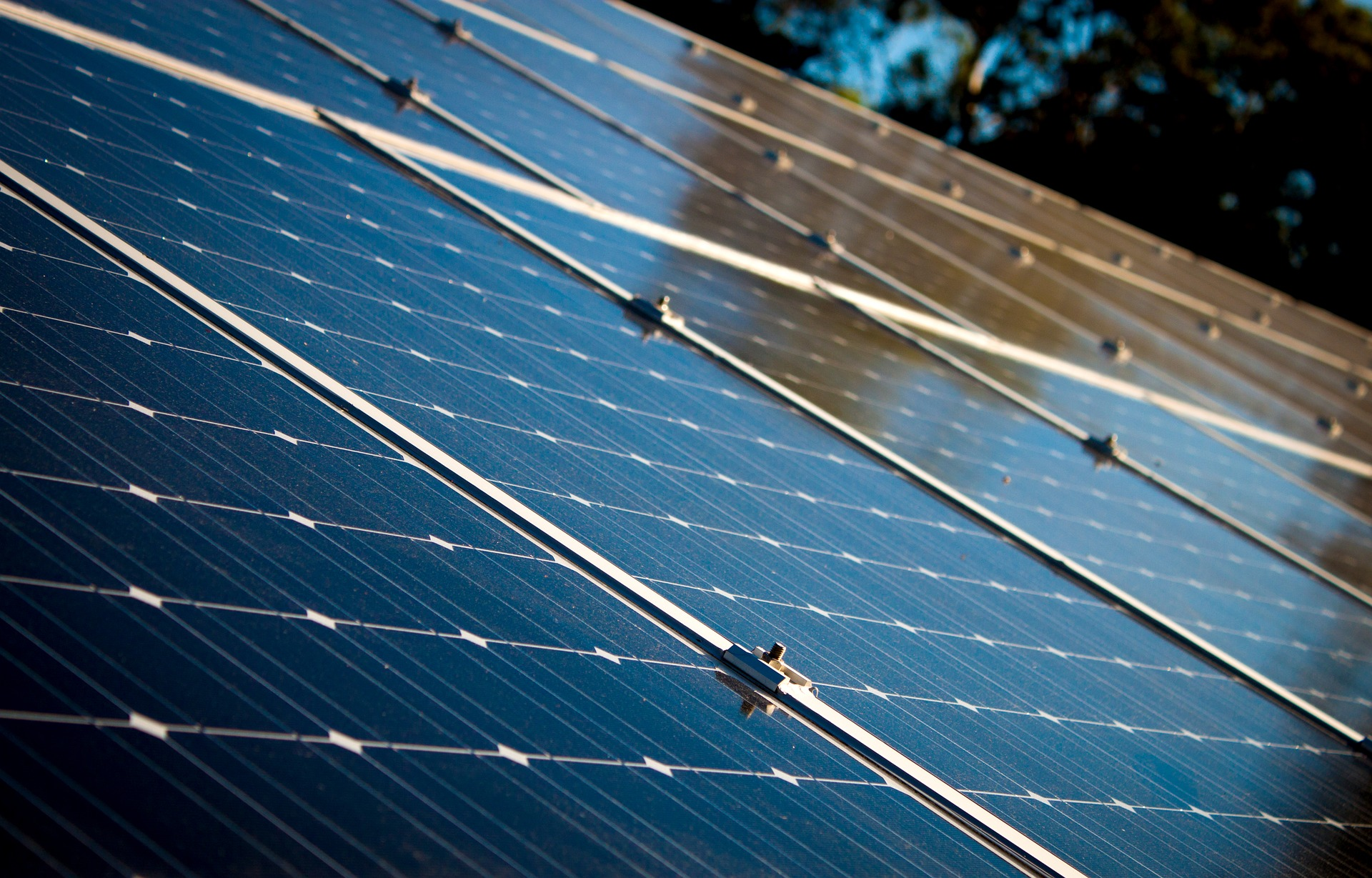 Close Up of a Working Solar Panel